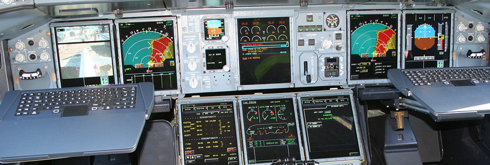 Photo of an Airbus console. Photograph by Naddsy.